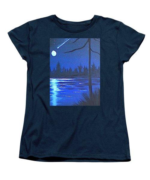 Night Scene Women's T-Shirt (Standard Cut) by Brenda Bonfield