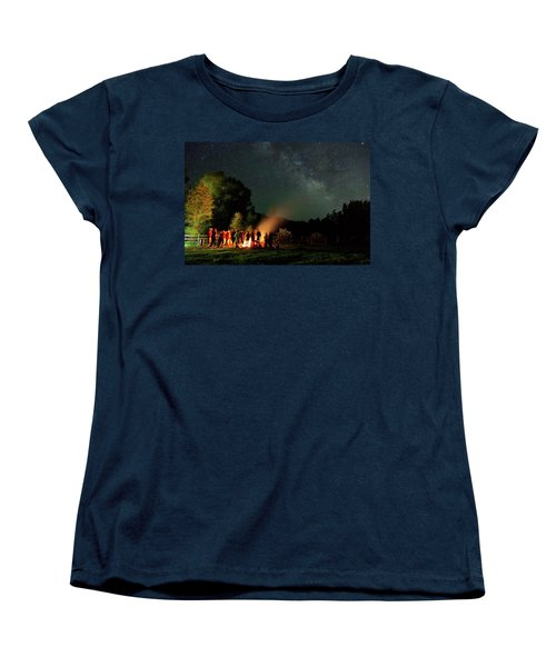 Night Sky Fire Women's T-Shirt (Standard Cut) by Matt Helm