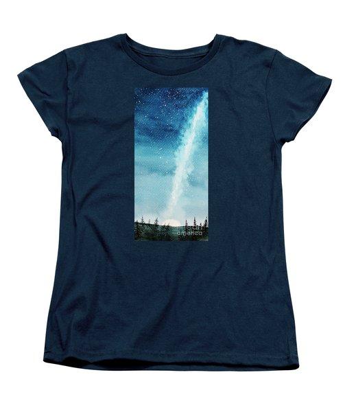 Night Sky Women's T-Shirt (Standard Cut) by Rebecca Davis