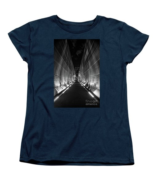 Night Time At Empty Sky Memorial Women's T-Shirt (Standard Cut) by Nicki McManus