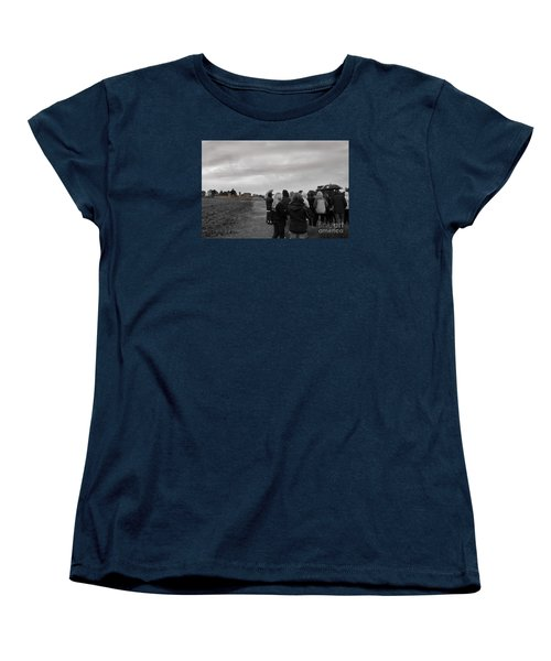 Women's T-Shirt (Standard Cut) featuring the photograph Night Vision Ghost Story In Bradgate Park. by Linsey Williams