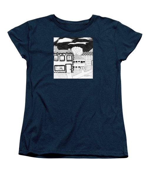 Women's T-Shirt (Standard Cut) featuring the painting Night Watch by Lou Belcher