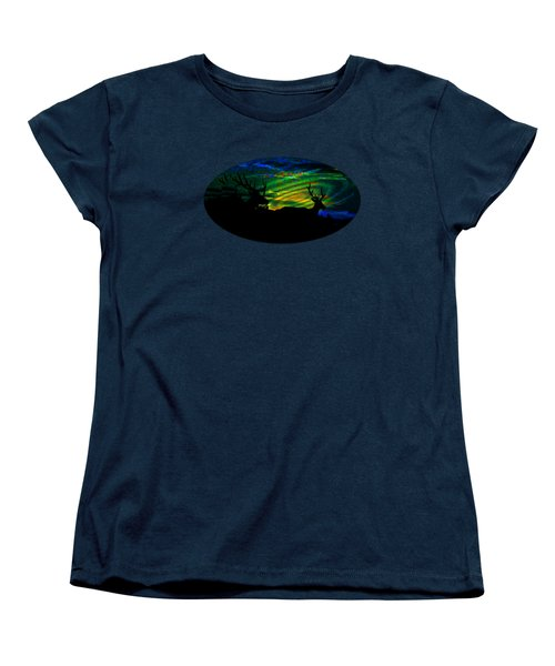 Women's T-Shirt (Standard Cut) featuring the mixed media Nightwatch by Mike Breau