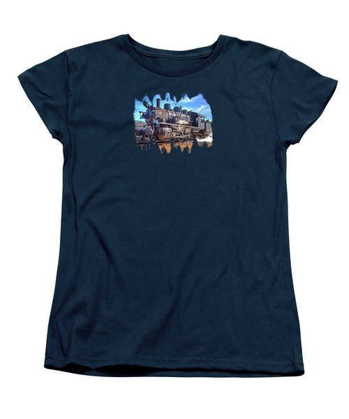 No. 25 Steam Locomotive Women's T-Shirt (Standard Cut) by Thom Zehrfeld