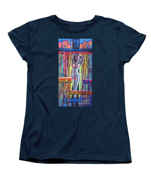 Women's T-Shirt (Standard Cut) featuring the painting No Name /crusifiction Maybe/ by Viktor Lazarev