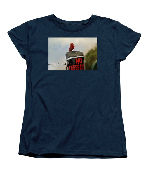No Trespassing Women's T-Shirt (Standard Cut) by TnBackroadsPhotos