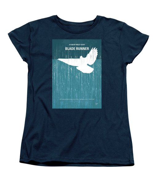 No011 My Blade Runner Minimal Movie Poster Women's T-Shirt (Standard Cut)