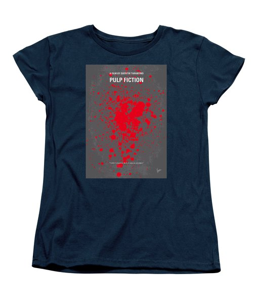 No067 My Pulp Fiction Minimal Movie Poster Women's T-Shirt (Standard Cut)
