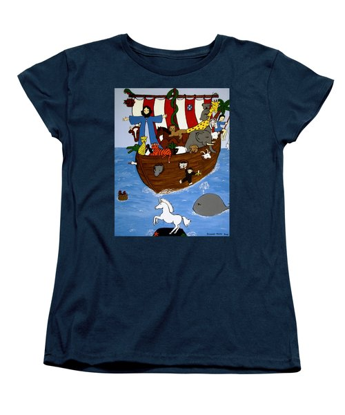 Women's T-Shirt (Standard Cut) featuring the painting Noah's Ark by Stephanie Moore
