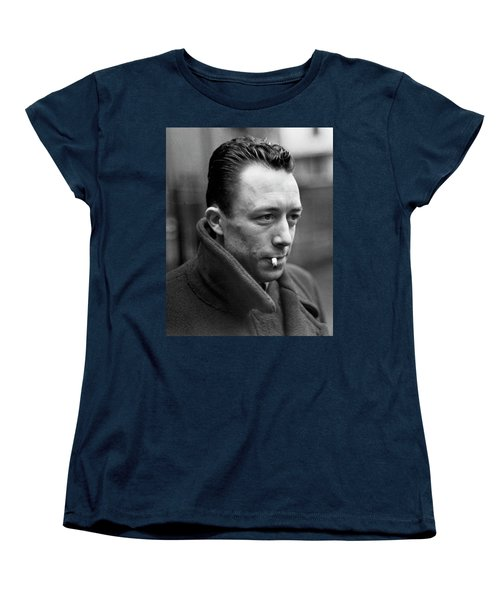 Nobel Prize Winning Writer Albert Camus Unknown Date #1 -2015 Women's T-Shirt (Standard Cut) by David Lee Guss