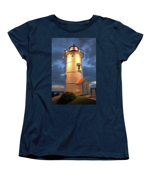 Women's T-Shirt (Standard Cut) featuring the photograph Nobska Point Lighthouse by Roupen  Baker