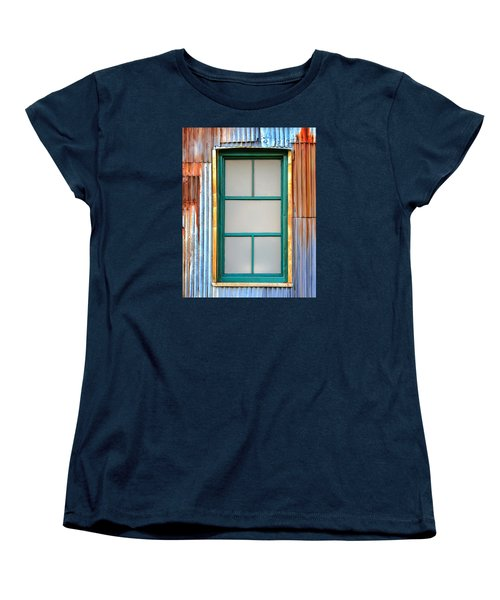 Women's T-Shirt (Standard Cut) featuring the photograph Nonwindow Surrounded By Color by Gary Slawsky