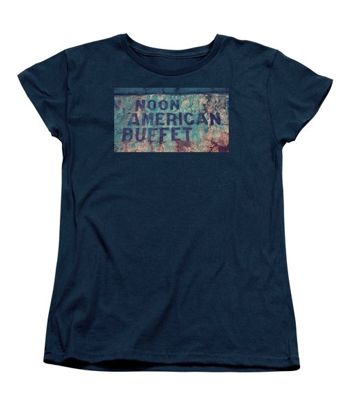 Noon American Buffet Women's T-Shirt (Standard Cut) by Toni Hopper