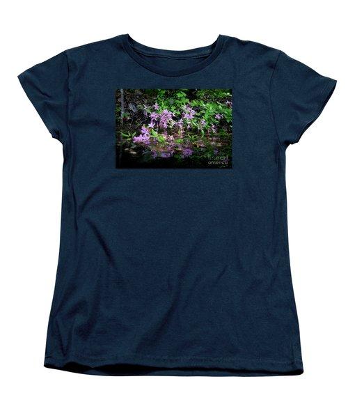 Norris Lake Floral 2 Women's T-Shirt (Standard Cut) by Douglas Stucky