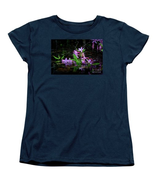 Norris Lake Floral Women's T-Shirt (Standard Cut) by Douglas Stucky