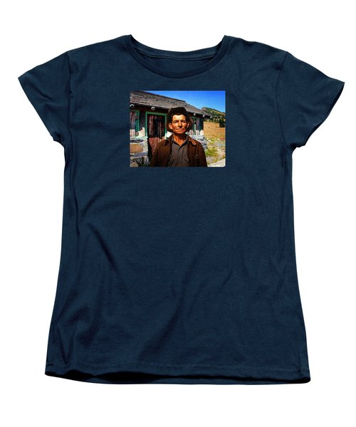 Women's T-Shirt (Standard Cut) featuring the photograph Norris' New Digs by Timothy Bulone