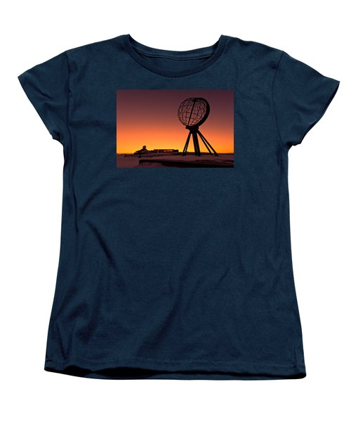 North Cape Norway At The Northernmost Point Of Europe Women's T-Shirt (Standard Cut) by Ulrich Schade