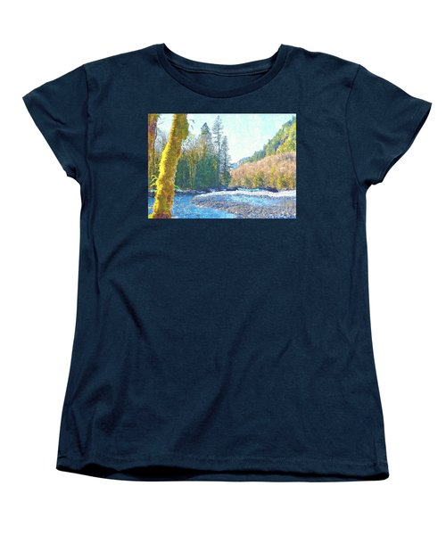 North Fork Of The Skykomish River Women's T-Shirt (Standard Cut) by Tobeimean Peter
