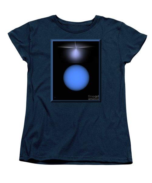 Women's T-Shirt (Standard Cut) featuring the digital art North Star by John Krakora