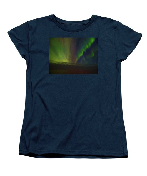 Northern Lights Or Auora Borealis Women's T-Shirt (Standard Cut) by Allan Levin
