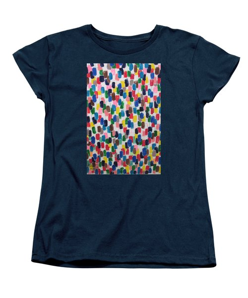 Women's T-Shirt (Standard Cut) featuring the painting Northwood Way - Artwork On T-shirt by Mudiama Kammoh