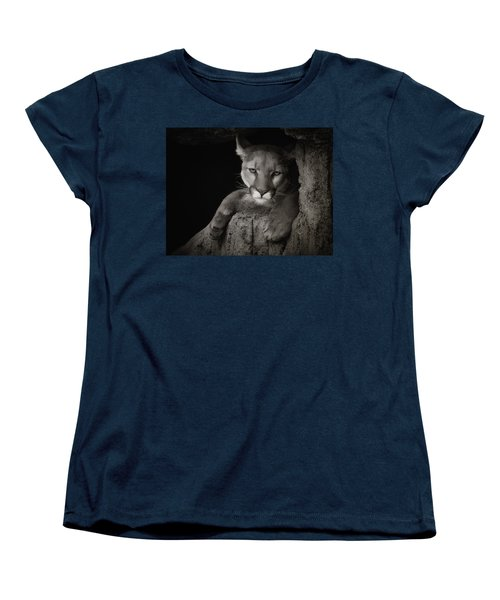 Not A Happy Cat Women's T-Shirt (Standard Cut) by Elaine Malott