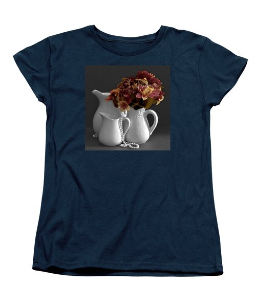 Women's T-Shirt (Standard Cut) featuring the photograph Not All Is Black And White by Sherry Hallemeier