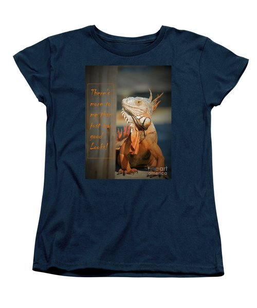 Women's T-Shirt (Standard Cut) featuring the photograph Not Just About The Looks by Pamela Blizzard