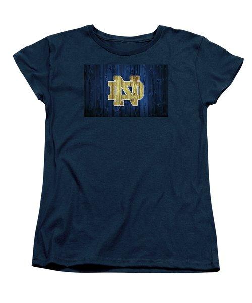 Notre Dame Barn Door Women's T-Shirt (Standard Cut) by Dan Sproul