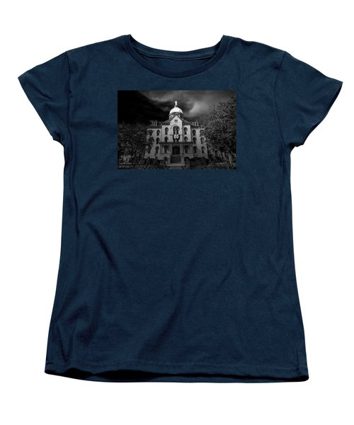 Notre Dame University Black White 3a Women's T-Shirt (Standard Cut) by David Haskett