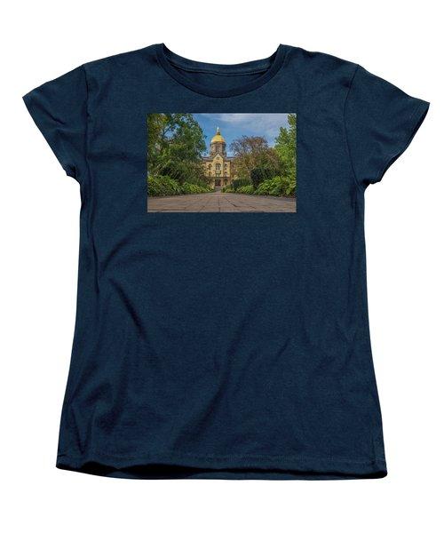 Notre Dame University Q Women's T-Shirt (Standard Cut) by David Haskett