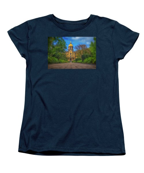 Notre Dame University Q2 Women's T-Shirt (Standard Cut) by David Haskett