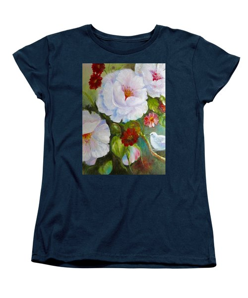 Women's T-Shirt (Standard Cut) featuring the painting Noubliable  by Patricia Schneider Mitchell