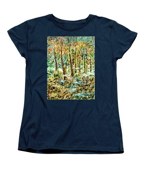 Women's T-Shirt (Standard Cut) featuring the painting November Morn by Alfred Motzer