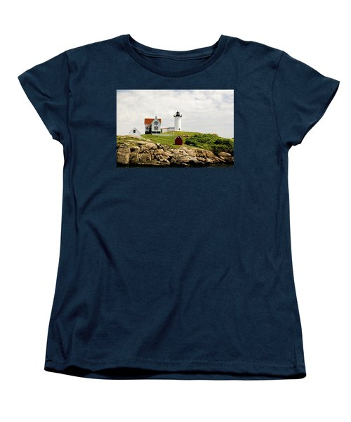 Nubble Light House  Women's T-Shirt (Standard Cut) by Betty Pauwels