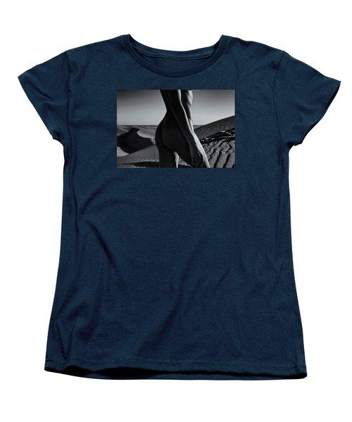 Nude On Desert Sandy Dunes Women's T-Shirt (Standard Cut) by Amyn Nasser