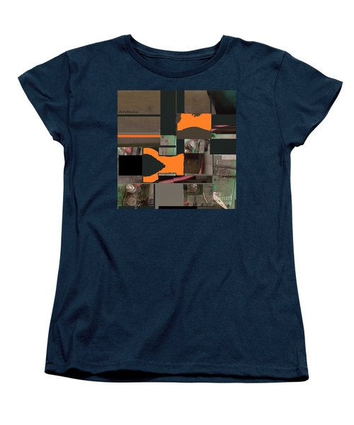 Women's T-Shirt (Standard Cut) featuring the mixed media Nuts And Bolts by Andrew Drozdowicz