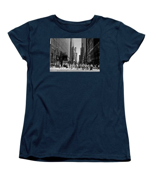 Nyc 42nd Street Crosswalk Women's T-Shirt (Standard Cut)