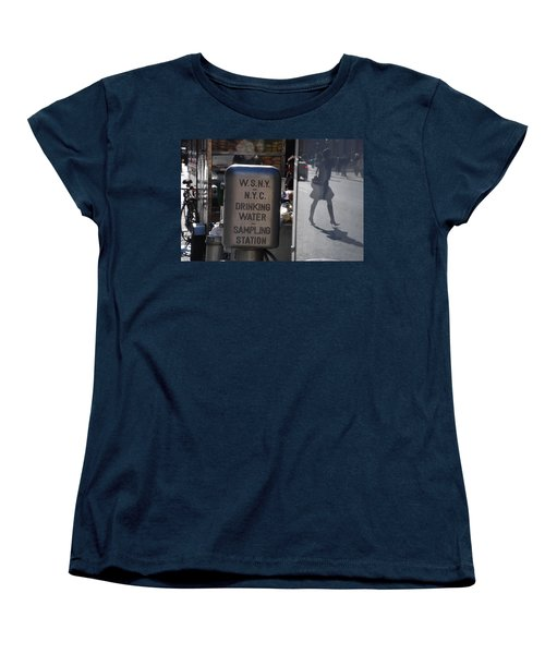 Women's T-Shirt (Standard Cut) featuring the photograph Nyc Drinking Water by Rob Hans