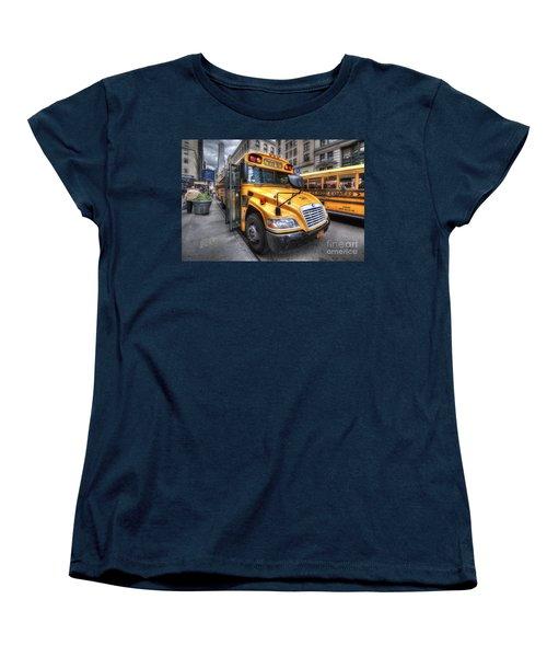 Nyc School Bus Women's T-Shirt (Standard Cut) by Yhun Suarez