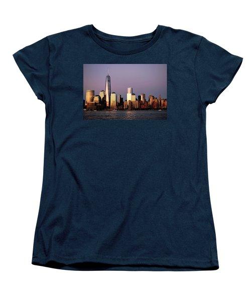 Nyc Skyline At Dusk Women's T-Shirt (Standard Cut) by Matt Harang