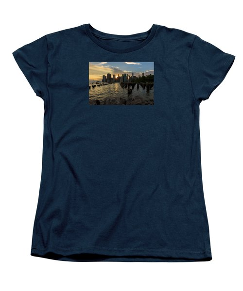 Nyc Sunset Women's T-Shirt (Standard Cut) by Anthony Fields