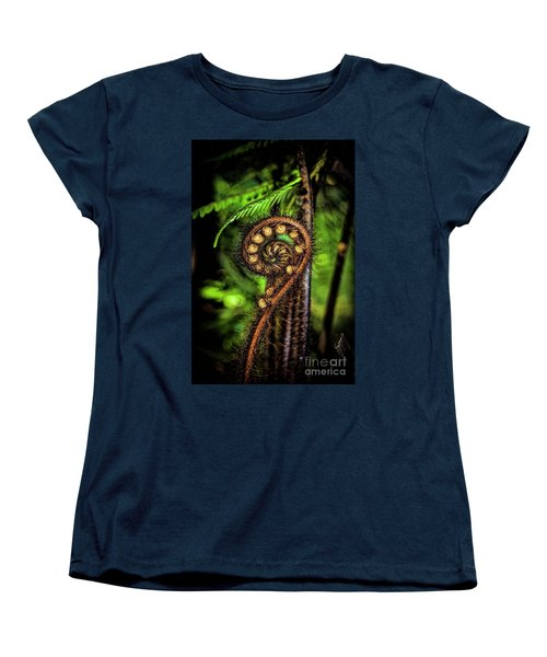 Nz Koru Women's T-Shirt (Standard Cut) by Karen Lewis
