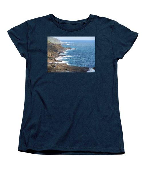 Oahu Coastline Women's T-Shirt (Standard Cut) by Karen J Shine