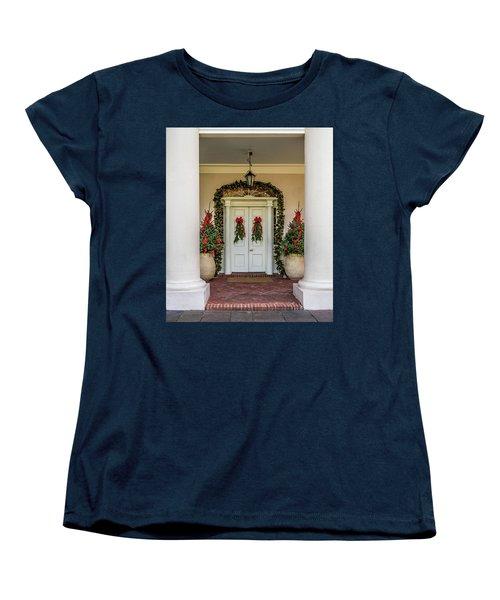 Women's T-Shirt (Standard Cut) featuring the photograph Oak Alley Plantation Doors by Paul Freidlund