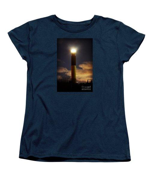 Women's T-Shirt (Standard Cut) featuring the photograph Oak Island Lighthouse by Kelly Nowak
