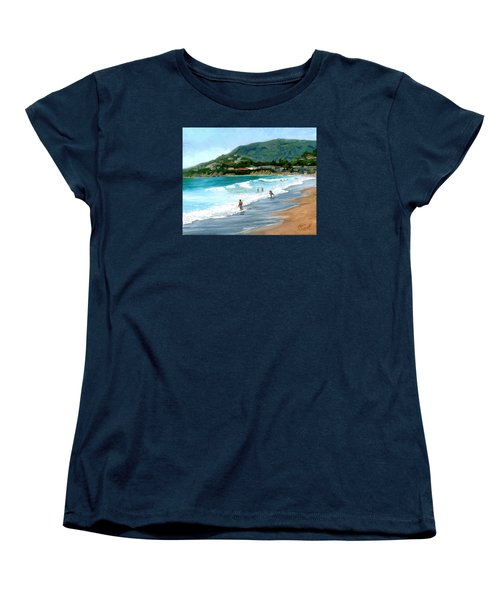 Oak Street Beach, Laguna Beach Women's T-Shirt (Standard Cut) by Alice Leggett