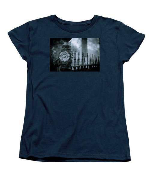 Women's T-Shirt (Standard Cut) featuring the photograph Oakwood Cemetery by Linda Unger