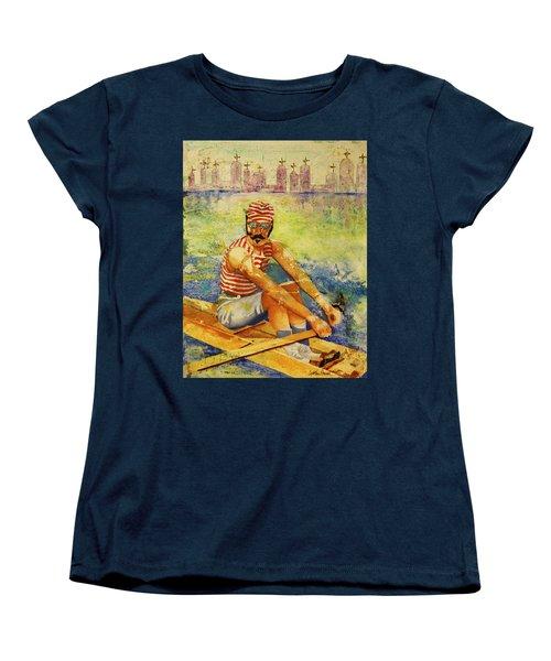 Oarsman Women's T-Shirt (Standard Cut) by Cynthia Powell