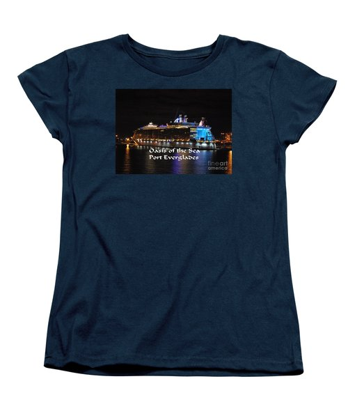 Women's T-Shirt (Standard Cut) featuring the photograph Oasis Of The Seas by Gary Wonning